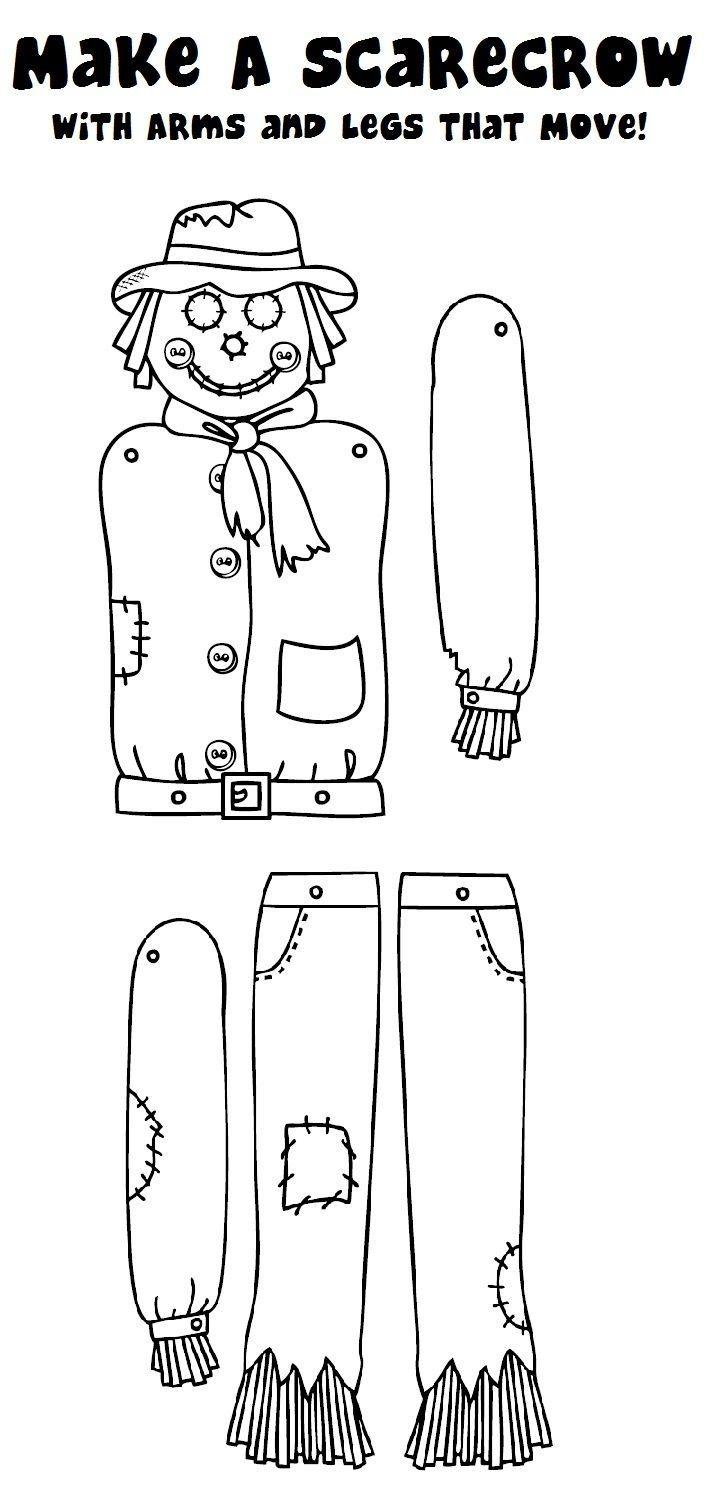 Scarecrow Craft! | Classroom Holidays | Scarecrow Crafts, Classroom - Free Scarecrow Template Printable