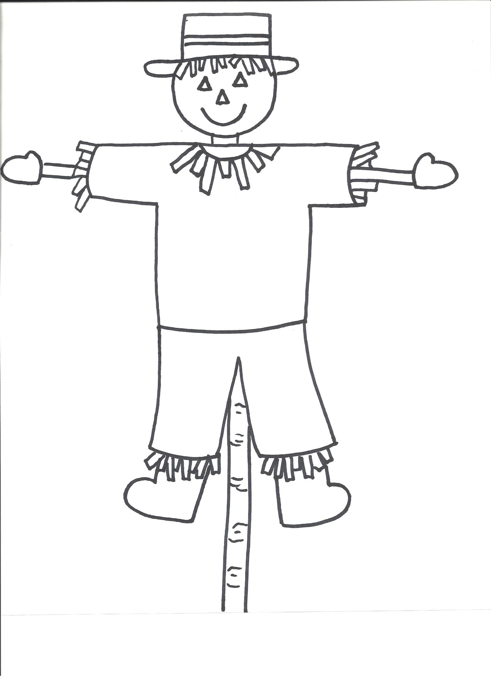Scarecrow Template | Templates - Crafts For Preschool Kids | Art - Free Scarecrow Template Printable