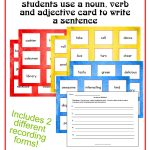 Sentence Builder Cards   The Curriculum Corner 4 5 6   Free Printable Noun Picture Cards