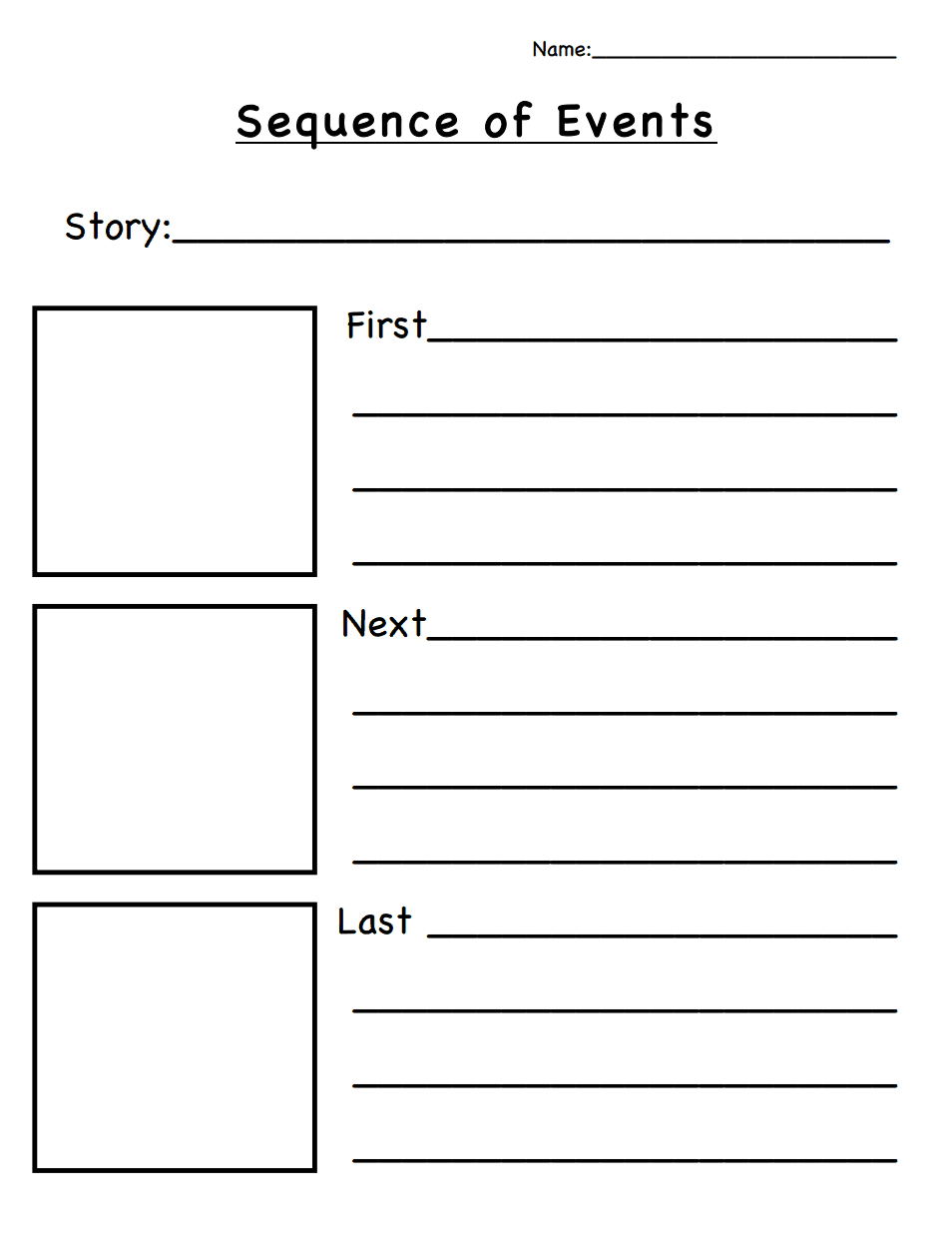 Sequence Of Events.pdf | Classroom Ideas | Story Sequencing - Free Printable Sequence Of Events Graphic Organizer