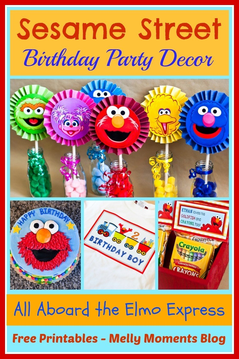 Sesame Street & Elmo Themed Birthday Party - Free Sesame Street Printables