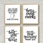 Set Of 4 Printable Bathroom Signs | Crafts Printables | Funny   Free Printable Funny Bathroom Signs