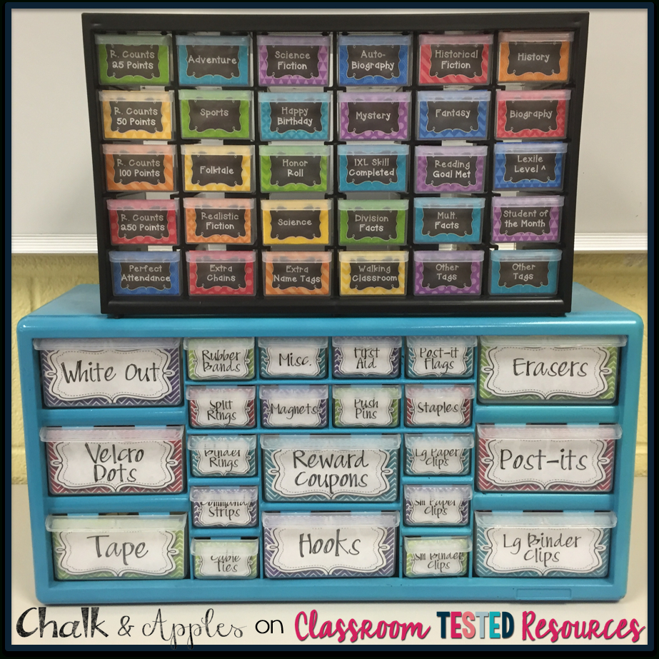 Set Yourself Up For Organization {+ A Freebie!} | Classroom Tested - Free Printable Teacher Toolbox Labels