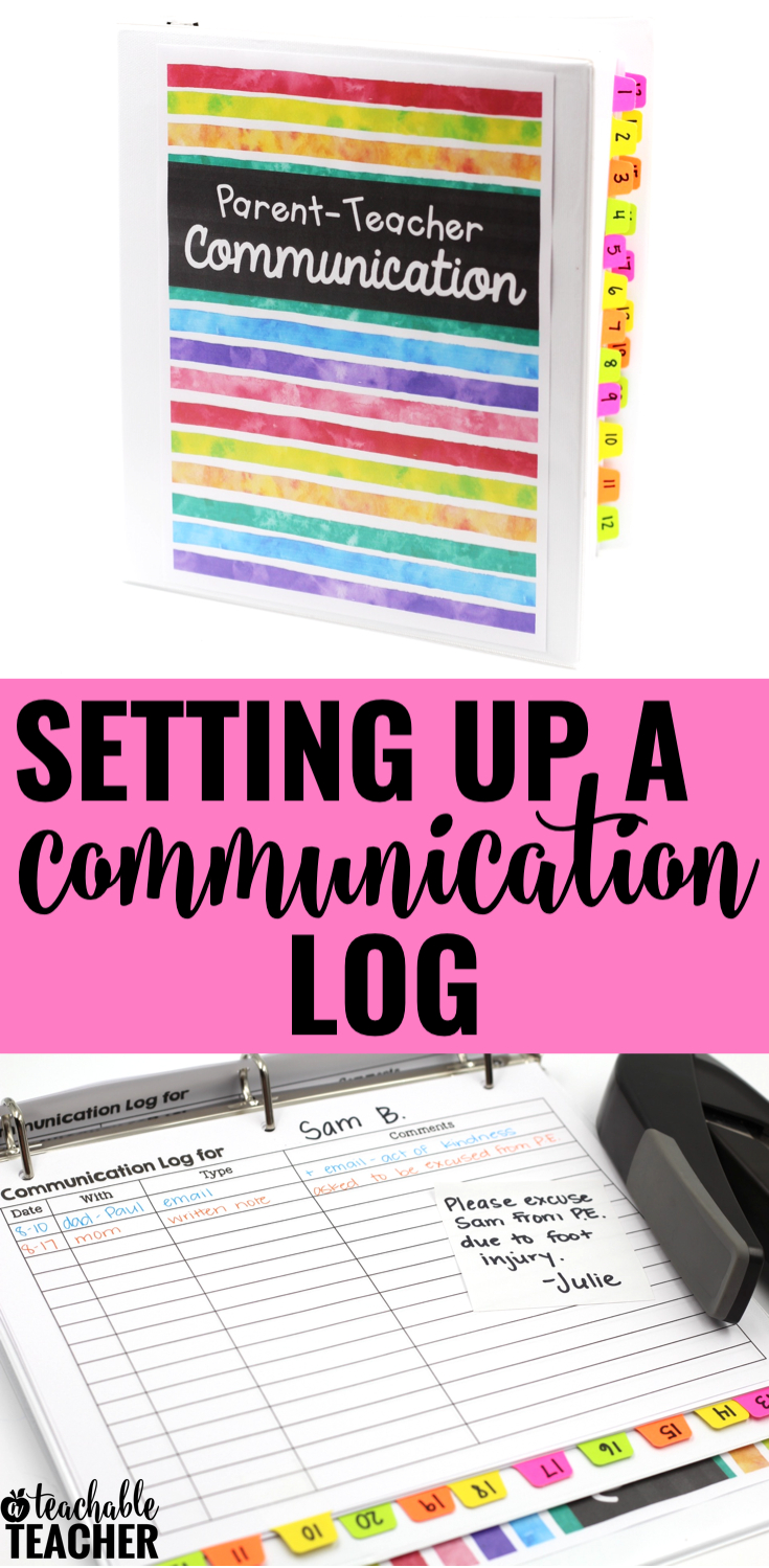Setting Up Your Parent Teacher Communication Log | Teaching Tools - Free Printable Parent Communication Log For Teachers