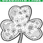 Shamrock Coloring Page Free Printable   Finding Zest   Free Printable Saint Patrick Coloring Pages