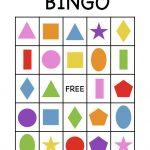 Shape Bingo Card   Free Printable   I'm Going To Use This To Teach   Free Printable Spanish Bingo Cards