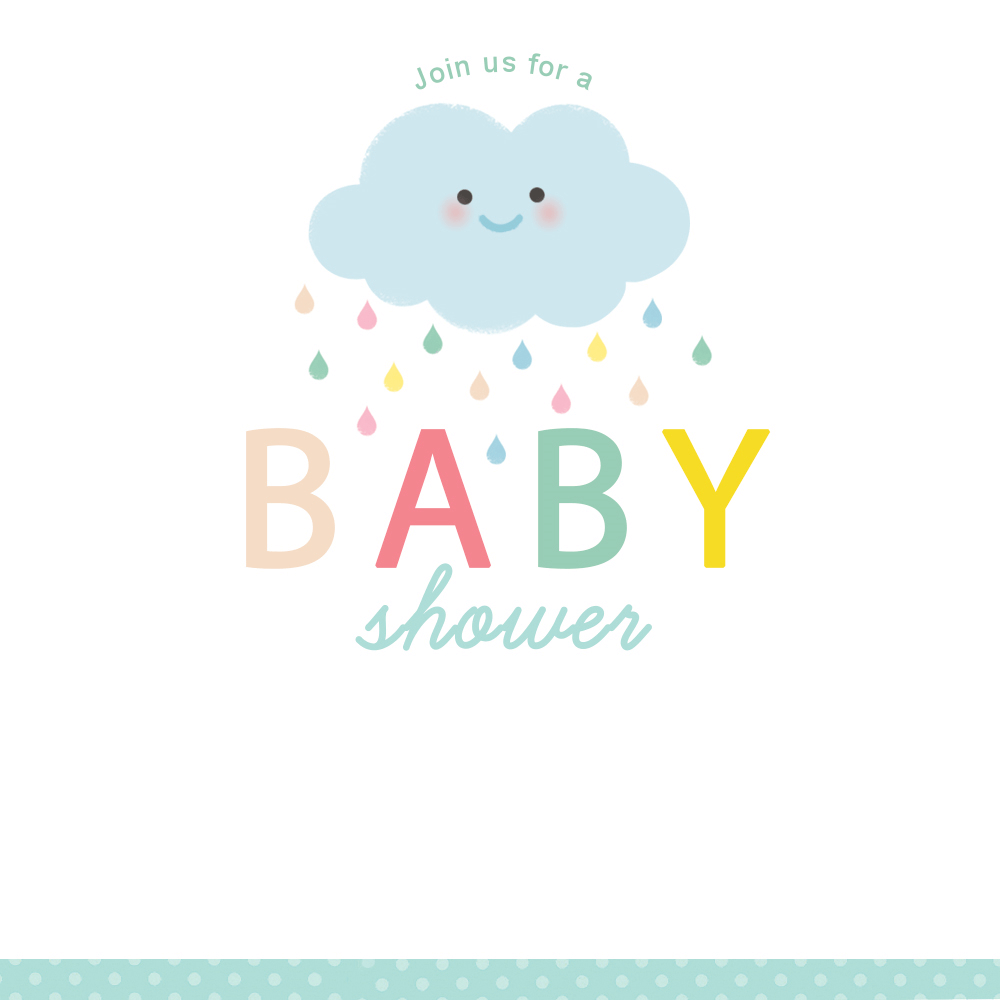 Shower Cloud - Free Printable Baby Shower Invitation Template - Free Printable Baby Shower Invitations Templates
