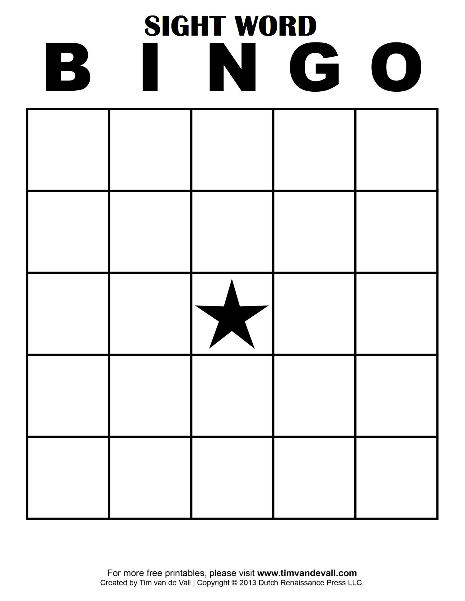 Sight Word Bingo … | School Classroom Ideas | Blank… - Free Bingo Patterns Printable