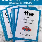 Sight Word Practice Cards | Snap Words | Educação   Free Printable Snapwords