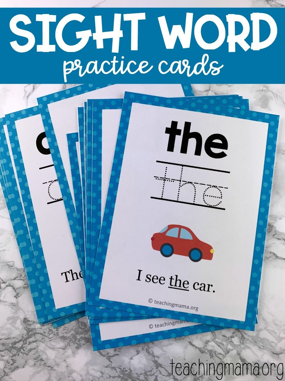 Sight Word Practice Cards | Snap Words | Educação - Free Printable Snapwords