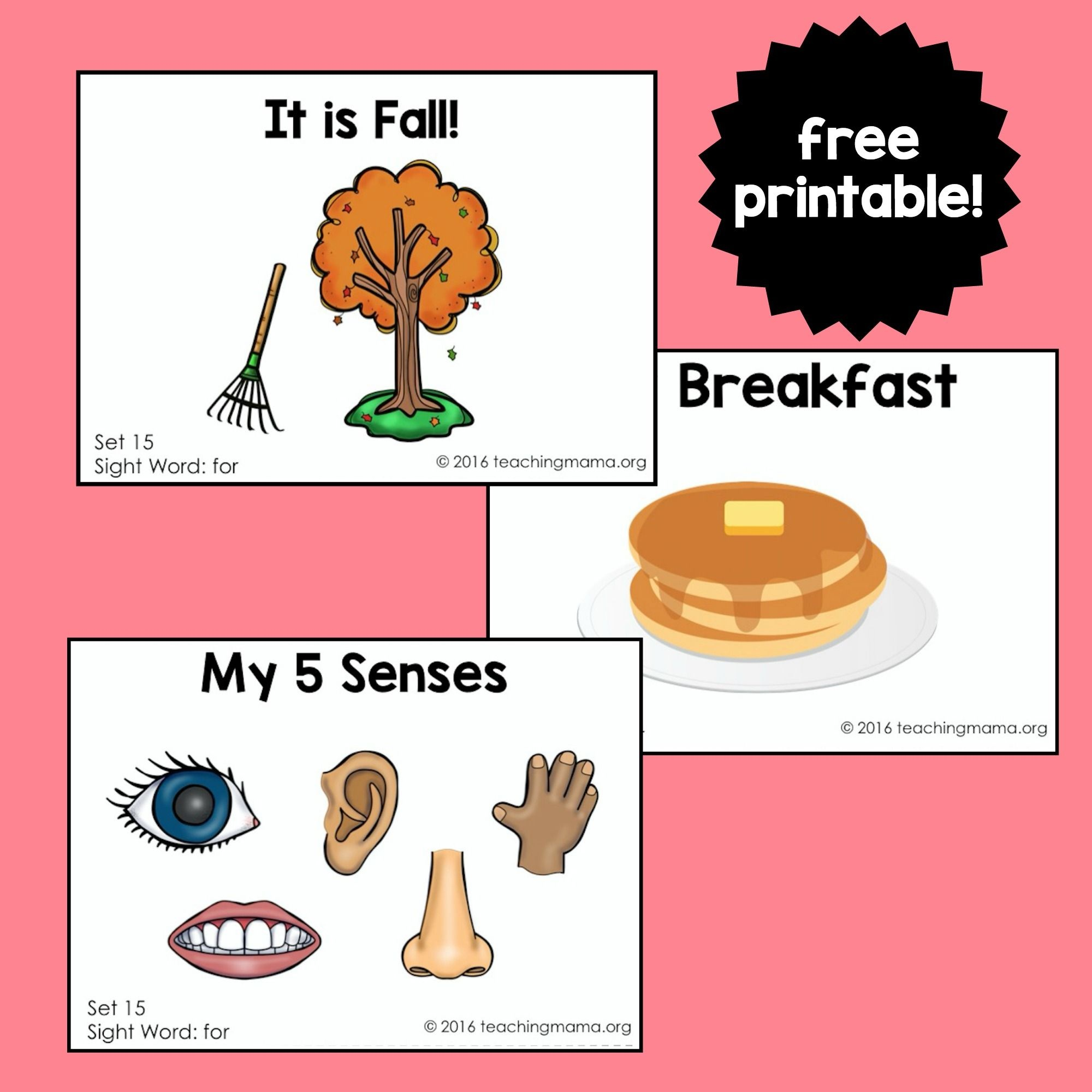 "Sight Word Readers For The Word ""for"" 