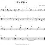 Silent Night, Free Christmas Trombone Sheet Music Notes   Trombone Christmas Sheet Music Free Printable