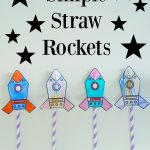 Simple Straw Rockets + Free Printable | Pre K! ✏ | Rocket Craft   Free Printable Crafts For Preschoolers