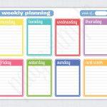 Simple Weekly Planner | Free Printable Weekly Planner | Via   Free Printable School Agenda Templates