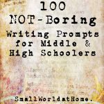 Smallworld: 100 Not Boring Writing Prompts For Middle  And High   Free Printable Writing Prompts For Middle School