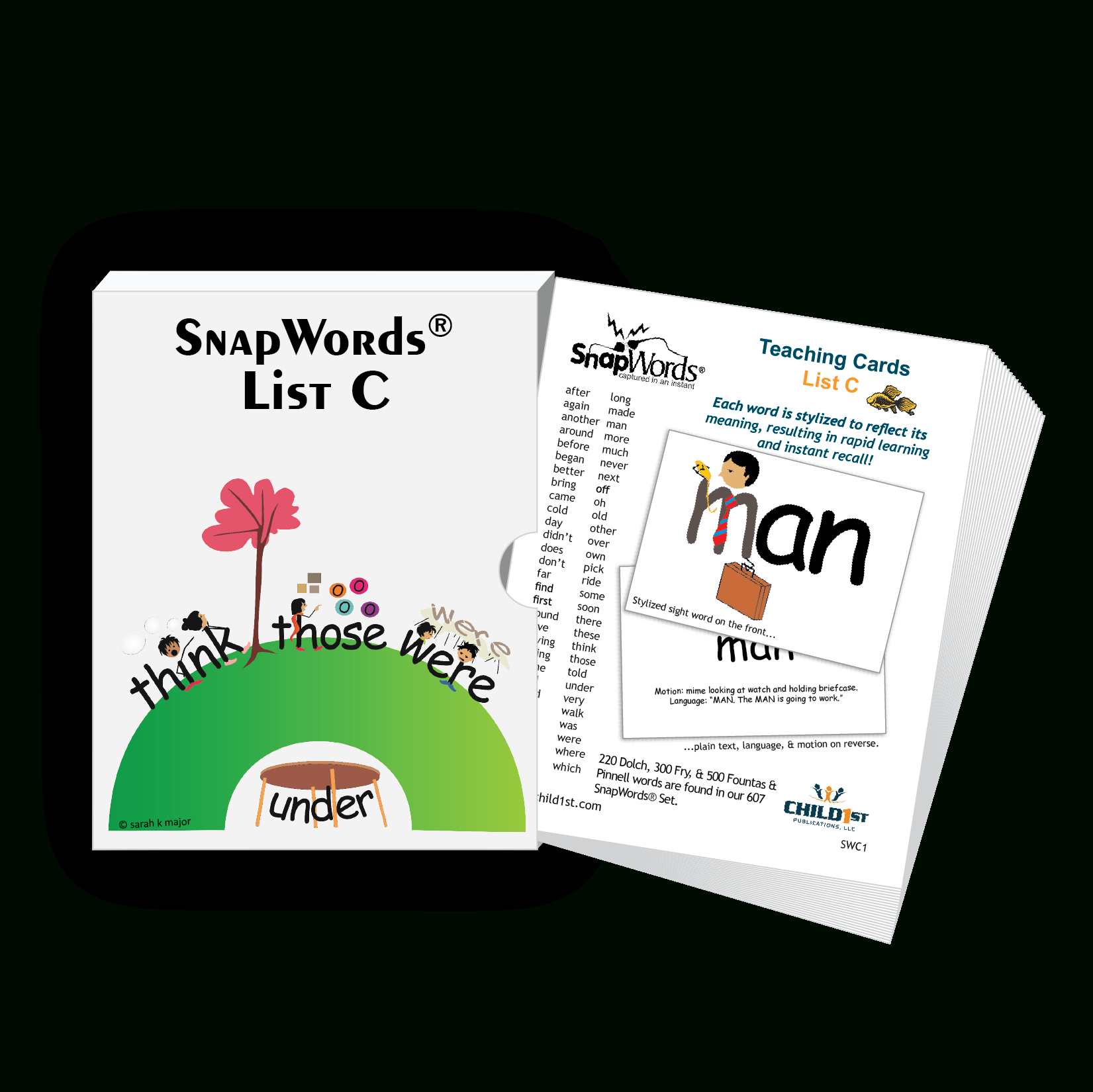 Snapwords® List C Teaching Cards | Products | List C, First Grade - Free Printable Snapwords
