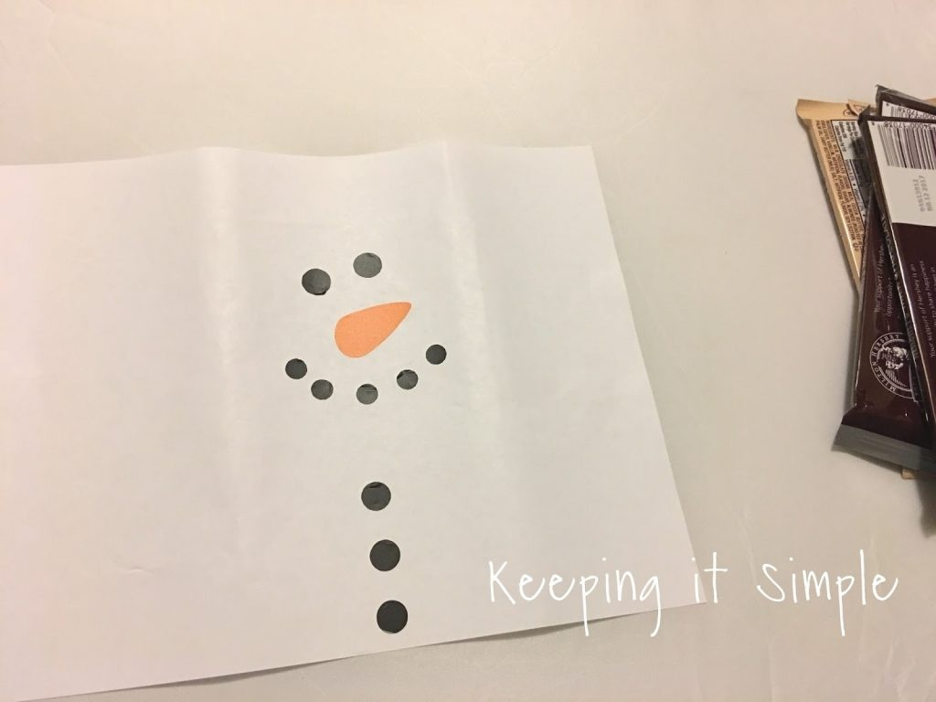 Snowman Candy Bar Neighbor Or Teacher Gift With Free Printable - Snowman Candy Bar Wrapper Free Printable