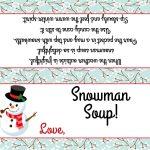 Snowman Soup Bag Topper Fits Plastic Sandwich Bags | Etsy   Snowman Soup Free Printable