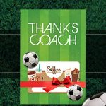 Soccer Coach Gift Thank You Card   Free Printable Download   Free Printable Soccer Thank You Cards