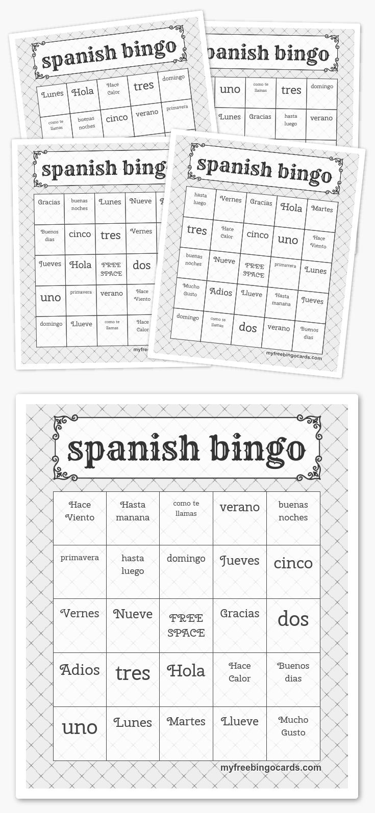 Spanish Bingo | Paises Latinos | Free Printable Bingo Cards, Bingo - Free Printable Spanish Bingo Cards