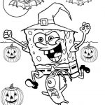 Spongebob Halloween Coloring Pages Printable   Free Online Printable Halloween Coloring Pages