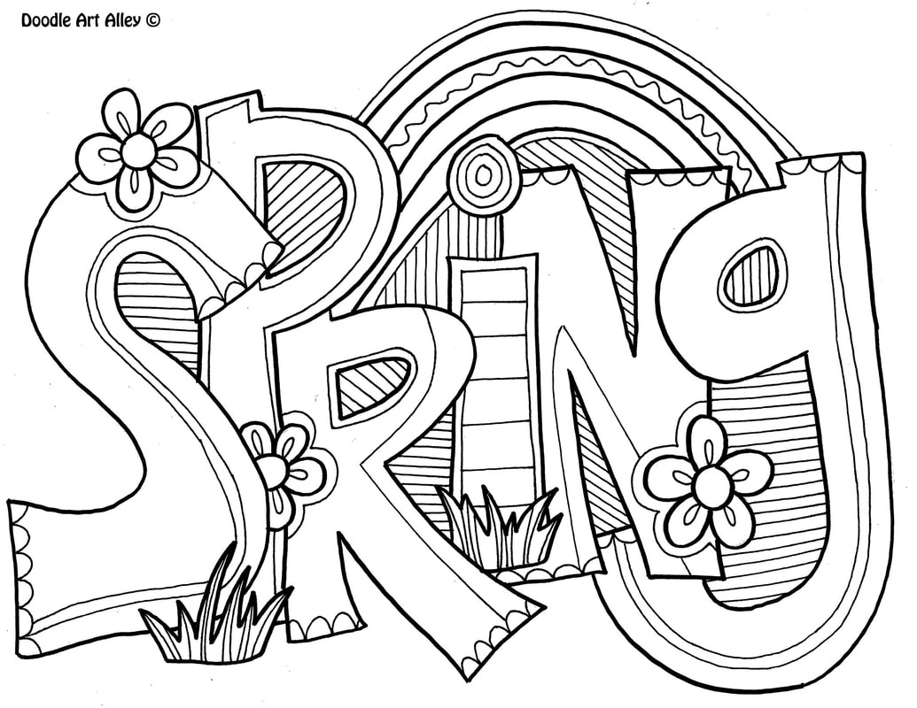Spring Coloring Pages - Doodle Art Alley - Free Printable Spring Coloring Pages