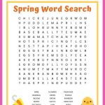 Spring Word Search Free Printable Worksheet For Kids   Word Search Free Printables For Kids