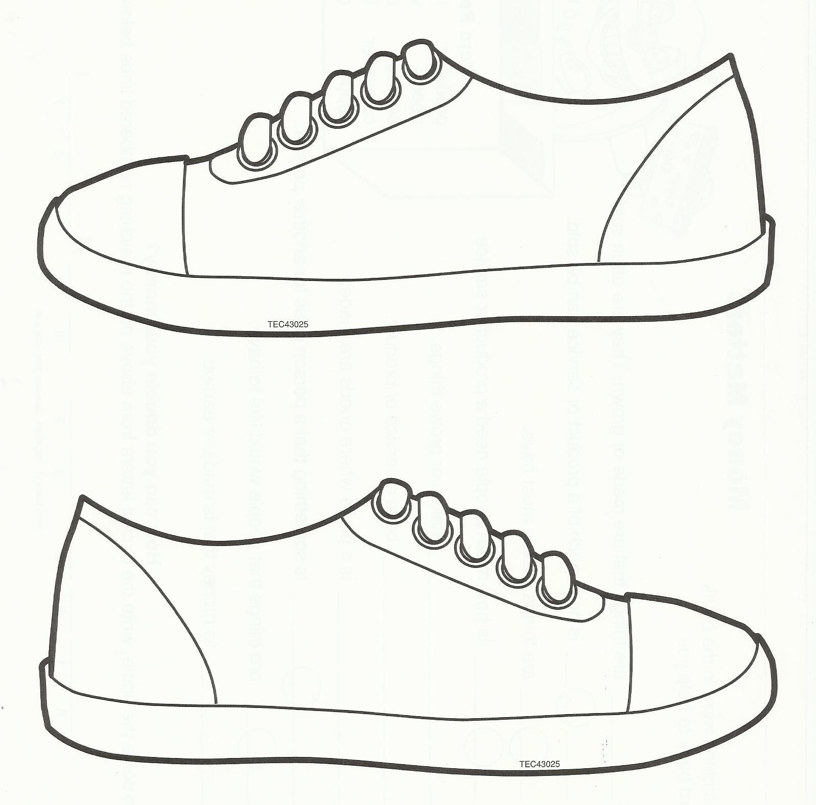 Squish Preschool Ideas: Sneaker Art | 2Nd Grade! End Of Year - Free Printable Shoe Print Template