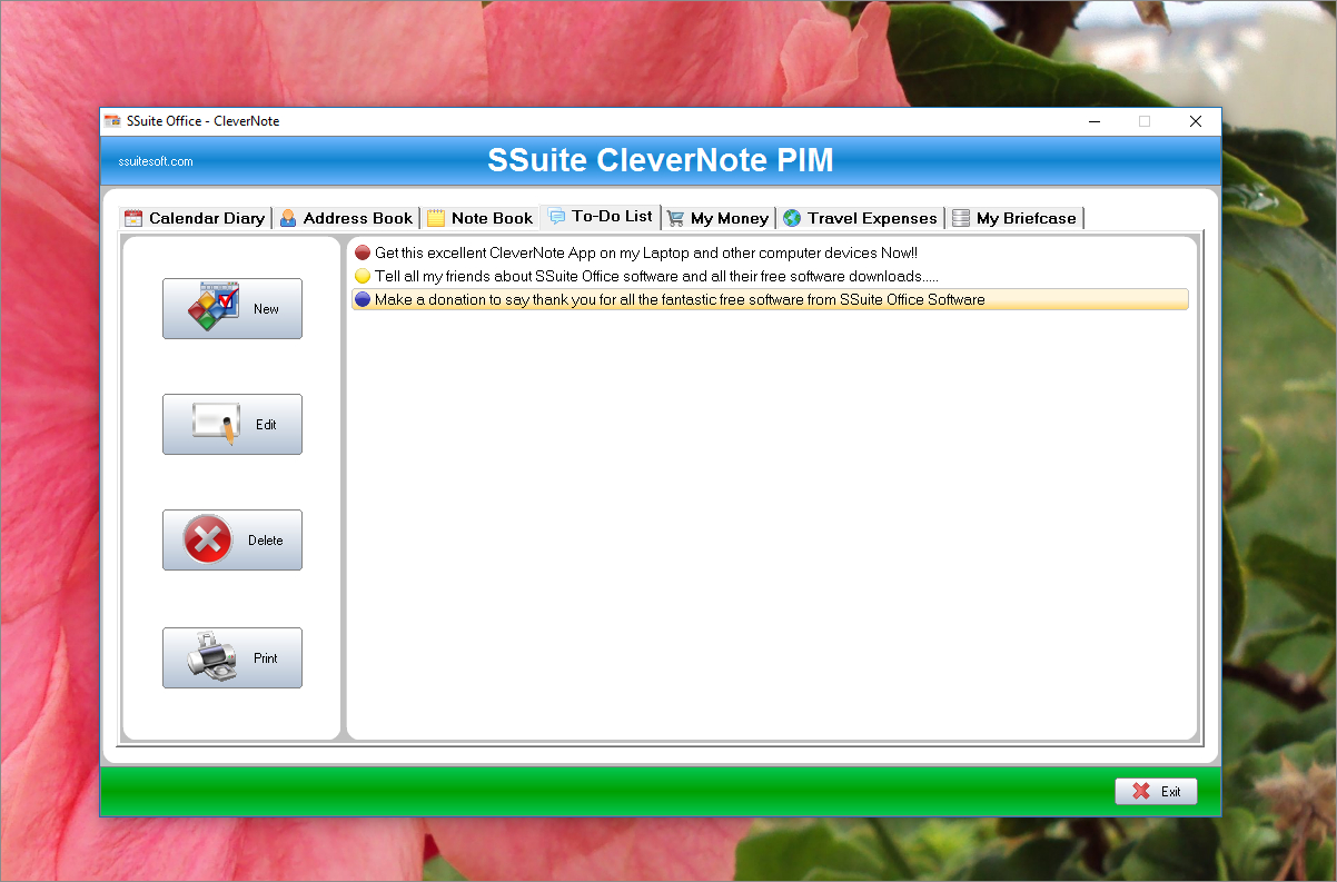 Ssuite Clevernote Pim Portable - Free Download And Software Reviews - Free Printable Address Book Software