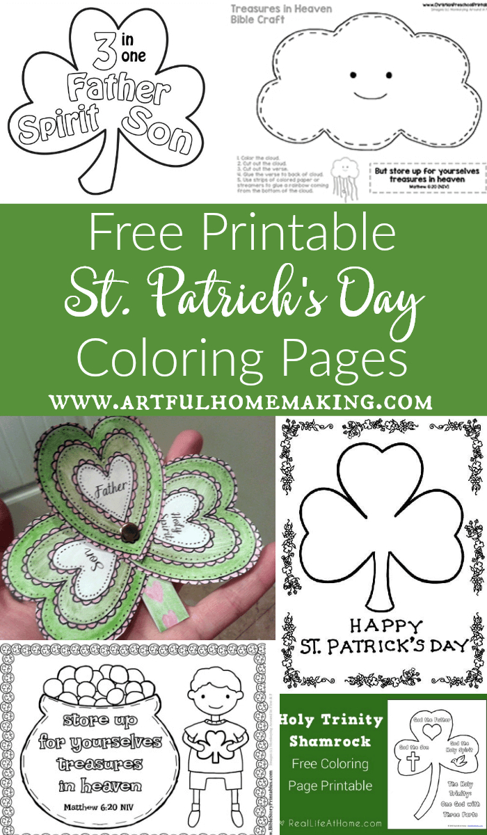 St. Patrick's Day Coloring Pages And Free Printables - Artful Homemaking - Free Printable Saint Patrick Coloring Pages