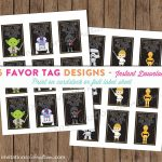 Star Wars Favor Tags Printable Sticker May The Force Be | Etsy   May The Force Be With You Free Printable