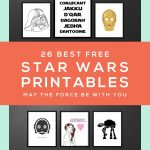 Star Wars Free Printables • A Roundup | Free Printables • Roundups   May The Force Be With You Free Printable