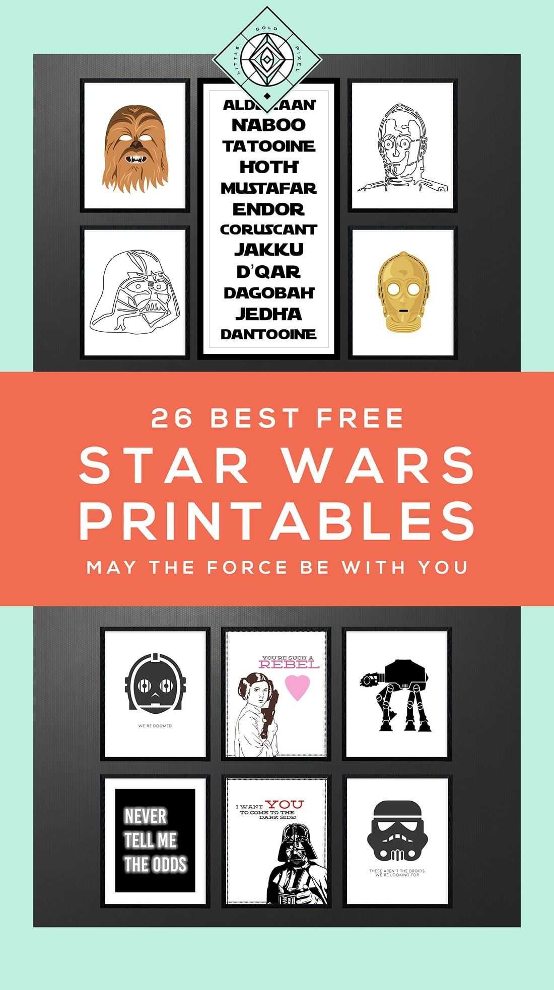 Star Wars Free Printables • A Roundup | Free Printables • Roundups - May The Force Be With You Free Printable