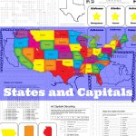 States And Capitals Printable Flash Cards And Worksheets   Only   State Capital Flashcards Printable Free