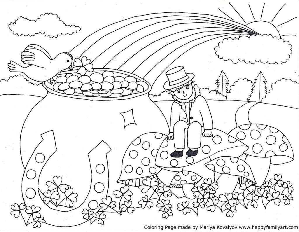 Stpatriksmedium - | Coloring Holidays | St Patrick, St Patricks Day - Free Printable St Patrick Day Coloring Pages