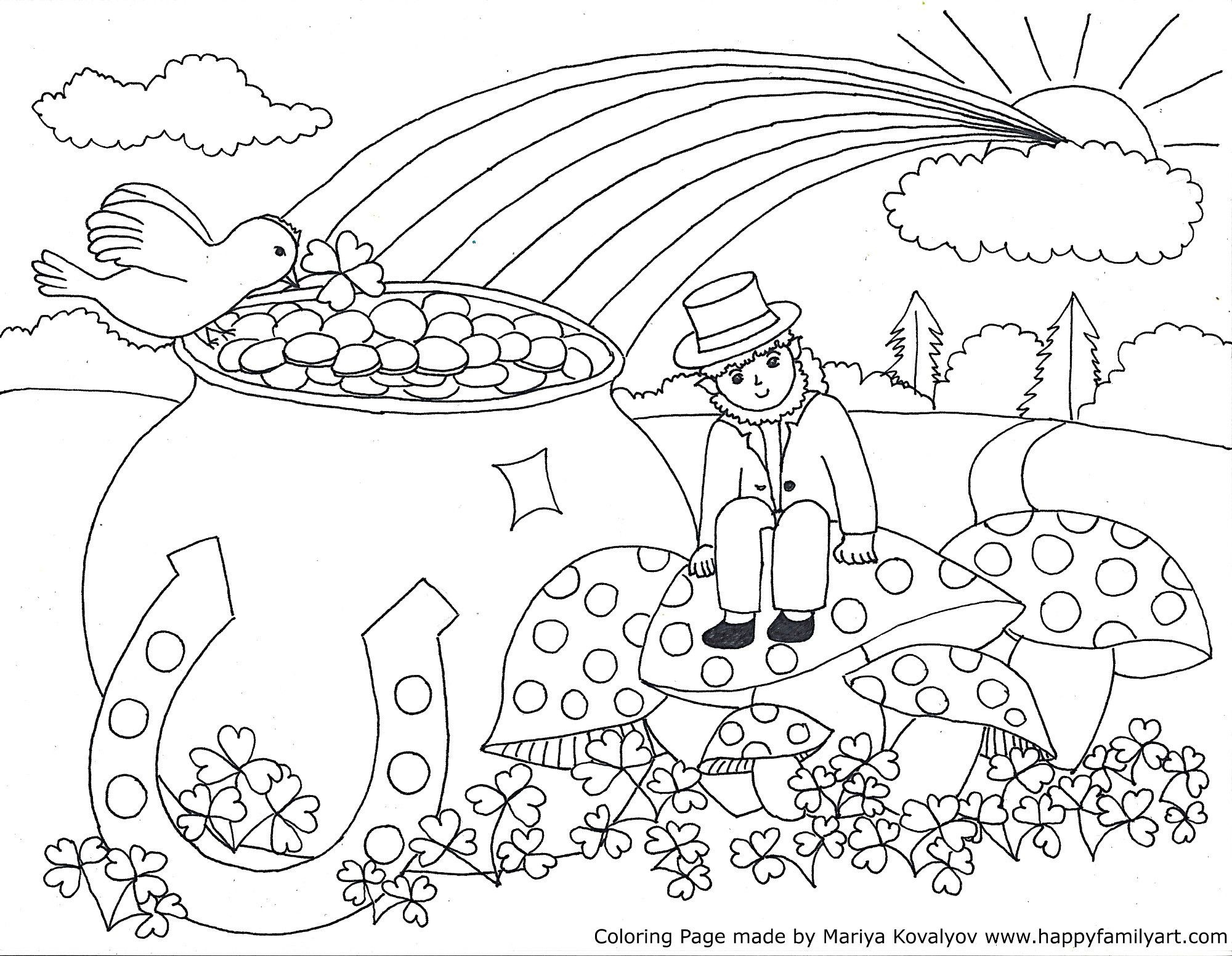 Stpatriksmedium - | Coloring Pages | Color, St Patrick, Coloring Pages - Free Printable Saint Patrick Coloring Pages