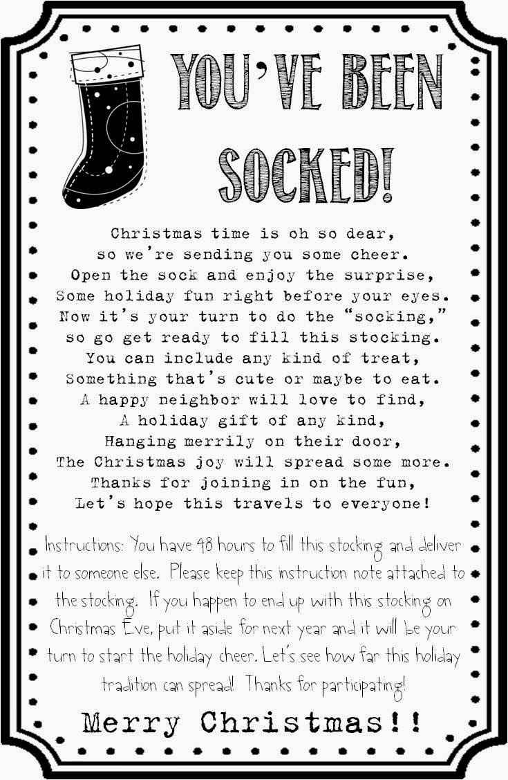 Strong Armor: Christmas Socking - You Ve Been Socked Free Printable