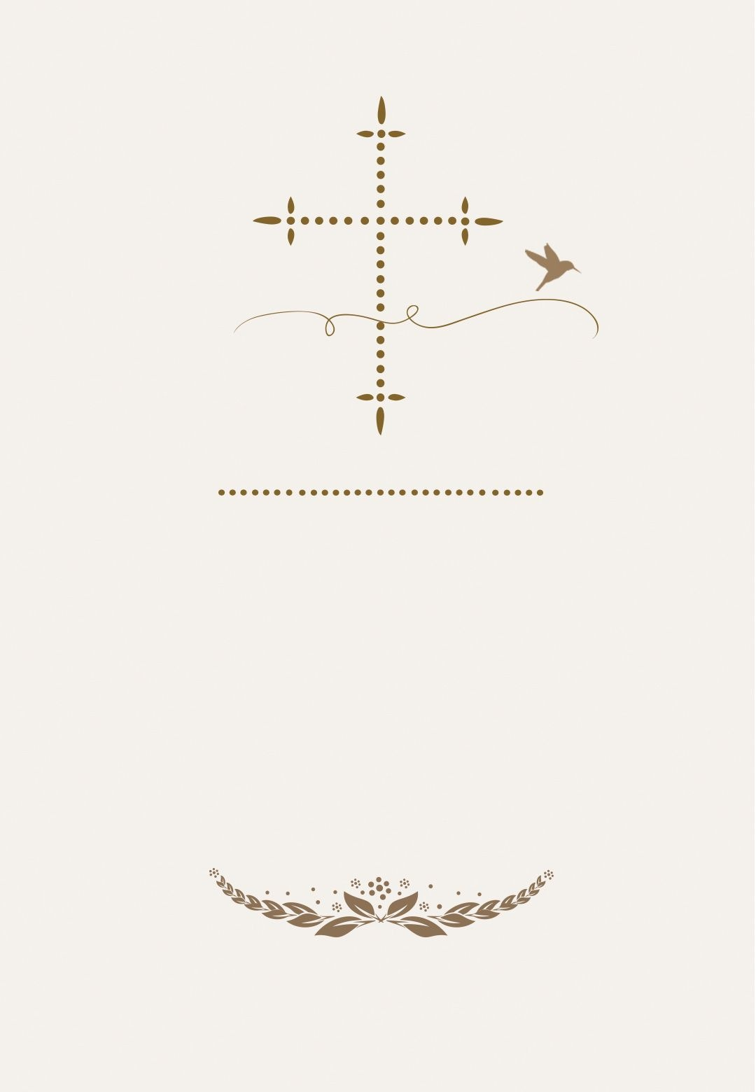 Stylized Cross - Free Communion Invitation Template | Greetings - First Holy Communion Cards Printable Free