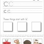 Subscriber Exclusive Freebie}   Letter C: Write, Cut & Paste   Free Printable Kindergarten Worksheets Cut And Paste