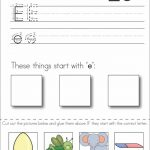 Subscriber Exclusive Freebie}   Letter E: Write, Cut & Paste Copy   Free Printable Kindergarten Worksheets Cut And Paste