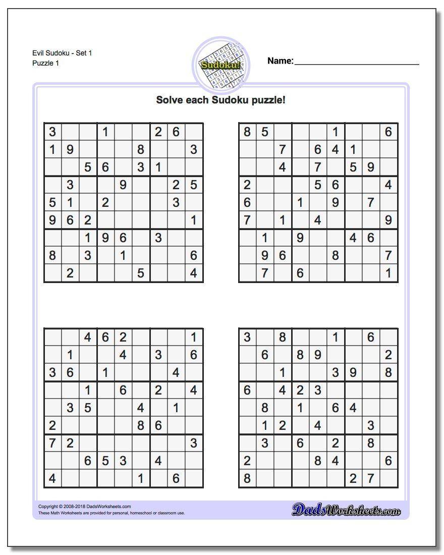 Suduko Printable | Ellipsis - Free Printable Sudoku Easy
