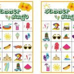 Summer Bingo Game With #free Printables   Free Bingo Printable