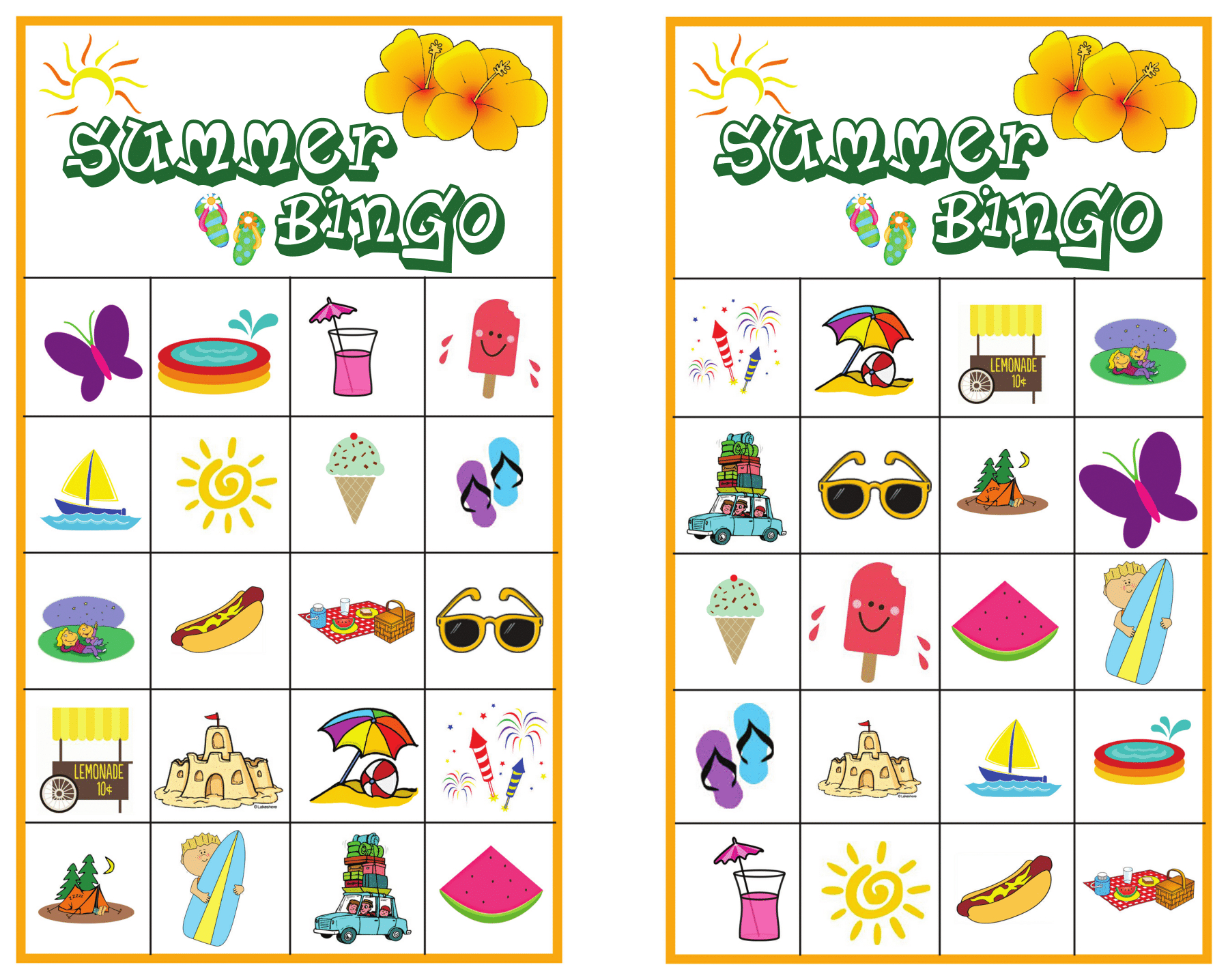 Summer Bingo Game With #free Printables - Free Bingo Printable