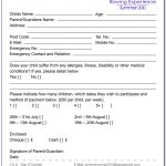 Summer Camp Registration Form Template Free   Form : Resume Examples   Free Printable Summer Camp Registration Forms