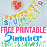 Summer Party Decor With Free Printables   Simple Made Pretty   Free Printable Summer Pictures