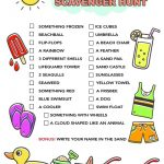 Summer Scavenger Hunt Free Printable For Kids     Free Printable Scavenger Hunt For Kids