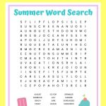 Summer Word Search Free Printable Worksheet For Kids   Word Search Free Printables For Kids