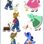 Sunbonnet Sue Printable Pattern | Sunbonnet Sue Quilt Blocks And   Free Printable Dutch Girl Quilt Pattern