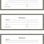 Surprising Free Printable Gift Certificates Template Ideas Christmas   Free Printable Gift Coupons