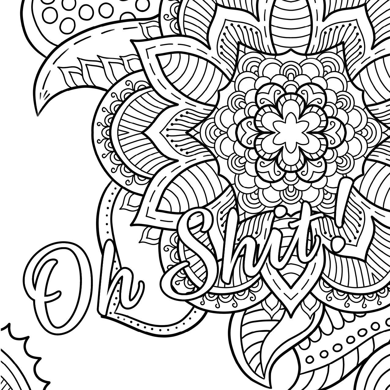Swear Word Coloring Book #2 Free Printable Coloring Pages For Adults - Free Printable Coloring Book